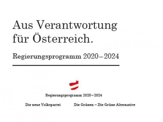 Regierungsübereinkommen der ÖVP  / Grünen