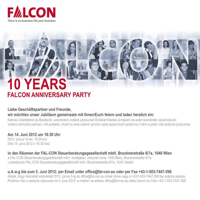 10 years FALCON Invitation